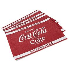 HSN Exclusive Coca-ColaSet of 4 Logo Placemats