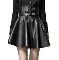 Black High-waisted Leather Skirt - http://www.amazon.com/Blooms-Women-Leather-Skirt-Medium/dp/B00F3HU21M?SubscriptionId=AKIAIGOODQU72FTHDVNA&tag=goreydetails-20&linkCode=xm2&camp=2025&creative=165953&creativeASIN=B00F3HU21M