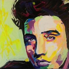 """""""Do something worth remembering"""" the one and only Elvis Presley  #elvispresley #elvis #art #art_empire #artist #artwork #abstract #colorful #creative #portrait #painting #acrylicpainting #acrylic #francoiseniellyart #francoisenielly #egyptart #egyptartist #francoiseniellyinspired #art_help #art_spotlight"""