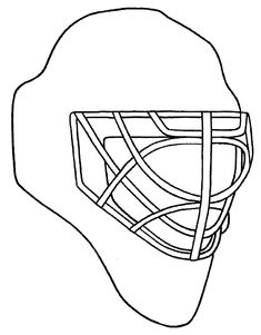 Design your own goalie mask. Chicago Blackhawks coloring pages