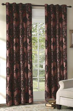 Amazon.com: Regal Velvet Grommet Top Window Panel (52Wx120L): Home & Kitchen