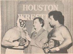 Mr Wrestling II (Johnny Walker) and Tiger Conway jr