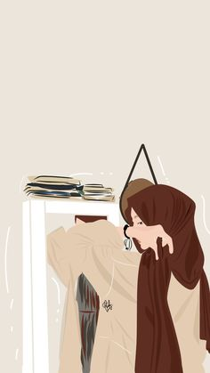 Cute Girl Wallpaper, Cute Wallpaper Backgrounds, Cute Cartoon Wallpapers, Graphic Design Illustration, Illustration Art, Hijab Drawing, We Bare Bears Wallpapers, Islamic Cartoon, Anime Muslim