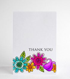 One Layer Thank You Card...