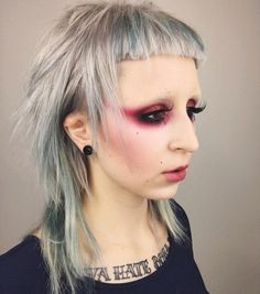 "4,420 Likes, 130 Comments - Kelseyanna Fitzpatrick (@kelseyannaf) on Instagram: ""Thankyou for the amazing cut & colour @nessatastic @bangtown my choppy anime mullet hair dreams…"""