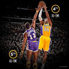 LA Lakers use social media to announce Kobe Bryant is the 4th leading scorer in NBA history #visualcontent