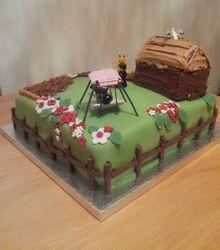 Garden cake http://cakesandkeepsakes.weebly.com/blog.html #SuperCuteGarden