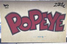 Popeye The Sailorman Vintage Glitter Iron On Heat by VintageIronOn