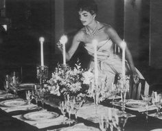 Hair, check. Super-elegant evening gown and totes fab tablescape, working on it.  Where the heck is Tish Baldridge when you need her?