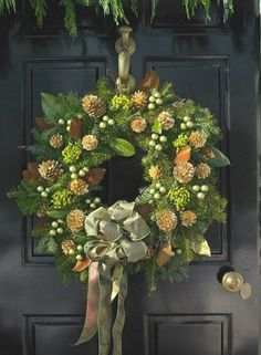 beautiful front door wreath for next year