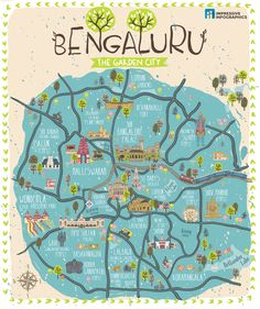 Discover the best of Bengaluru in this illustrated city map by Impressive Infographics
