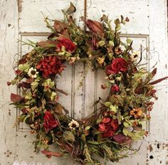 fall wreath and swag ideas Fall Mesh Wreaths, Autumn Wreaths For Front Door, Holiday Wreaths, Door Wreaths, Wreath Fall, Flower Wreaths, Winter Wreaths, Thanksgiving Door Decorations, Thanksgiving Wreaths