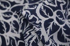 Navy Forest - Crepe De Chine Silk - Tessuti Fabrics - Online Fabric Store - Cotton, Linen, Silk, Bridal & more
