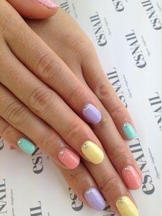 I love pastel nail art!!!