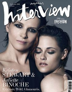 Fountain of youth: Juliette Binoche snuggles up to her co-star Kristen Stewart looking more youthful than ever on the cover of Germany's Int...