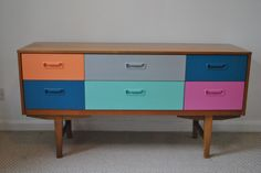 retro sideboard painted upcycled by happyretro.co.uk