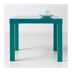 "LACK Side table - high gloss/turquoise, 21 5/8x21 5/8 "" - IKEA"