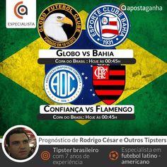 Hoje começa a copa do Brasil. Nosso especialista Rodrigo Cesar traz seu prognóstico. Confere:  http://www.apostaganha.com/2016/03/16/prognostico-apostas-globo-vs-bahia-copa-do-brasil/  http://www.apostaganha.com/2016/03/15/prognostico-apostas-confianca-vs-flamengo-copa-do-brasil/  http://www.apostaganha.com/2016/03/16/prognostico-apostas-confianca-vs-flamengo-copa-do-brasil-09/  Quer 100 euros de bonus, streams dos maiores eventos e uma casa com milhares de opções? Conheça a 1xBet…