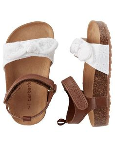 Baby Girl Carter's Eyelet Cork Sole Sandals from Carters.com. Shop clothing & accessories from a trusted name in kids, toddlers, and baby clothes.