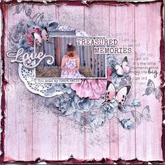 My Cherie Collection Scrapbook Layout Sketches, Scrapbook Designs, Scrapbook Albums, Scrapbooking Layouts, Scrapbook Cards, Shabby Chic Cards, Rustic Shabby Chic, Mixed Media Scrapbooking, Arts And Crafts Projects