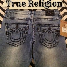 """True Religion Joey Super T Jeans Beautiful and fun jeans! STYLE: TS01--TL COLOR: T-Light Joey Super T Size: 27 Inseam: 30"""" NWT!!! Retail: $319!!! True Religion Jeans"""