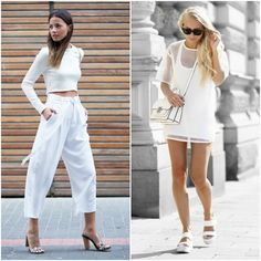 all white outfit - fashion trend