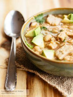 Vegan Chickun and White Bean Soup