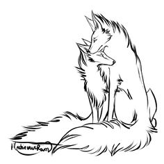 Couple Wolf Lineart by MischievousRaven on DeviantArt Unique Drawings, Cool Art Drawings, Art Drawings Sketches, Wolf Drawing Easy, Drawing Base, Animal Sketches, Animal Drawings, Wolf Sketch, Wolf Artwork