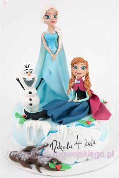 Torta di Frozen con decorazioni in pasta di zucchero n.37