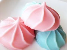 Cotton Candy Meringue Soaps    COTTON CANDY: Fruity notes of fresh strawberry swirled with french vanilla. Sugary and sweet!    Made with a