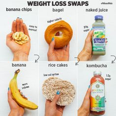These Swaps Will Not Only Save Your Waistline But Also Your Health Love To Make Smart Food Choices Some Healthy Swaps To Add To Your Nutrition Routine Healthy Food Swaps, Healthy Drinks, Healthy Snacks, Healthy Eating, How To Eat Healthy, Rice Cakes Healthy, Healthy Bedtime Snacks, Diet Tips, Diet Recipes