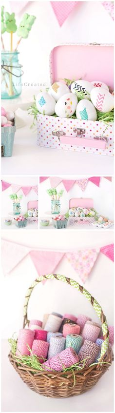 Easter party decor by 2Berry Creative. Photographed by @lifecreated #lifecreated. // 2berrycreative.com