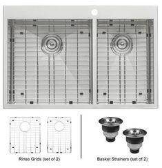 Ruvаtі RVH8050 Drор-In 33-Inch Stainless Steel Kitchen Sink