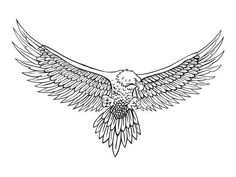 line drawing of the eagle vector Tattoos 3d, Eagle Tattoos, Tattoos Skull, Animal Tattoos, Body Art Tattoos, Sleeve Tattoos, Tattoos For Guys, Celtic Tattoos, Tattos
