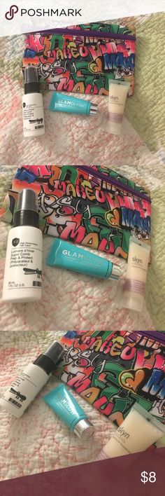Ipsy makeup bundle ALL ITEMS ARE BRAND NEW/UNUSED. Comes with ipsy pouch, N4 Lumiere super comb prep and protect, Glamglow thirstymud hydrating treatment, and Skyn Iceland cooling daily lotion. Needs a new home ❤️ Sephora Makeup