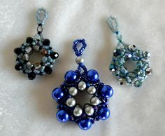 more wreath pendants with rondelles and pearls