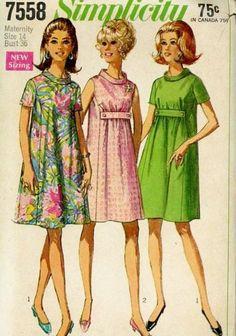 1960's Simplicity 7558 Maternity Dress