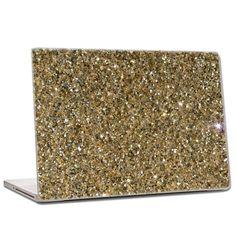Luxury Gold - Mixed Glitter Laptop Skin ~ ahhhh!!! want!!