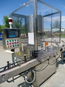 """1-USED ANDERSON NINE HEAD ROTARY PUMP PLACER MODEL PP-8806, S/N 92-022.  WITH EXTENDED CONVEYOR, UNIT HAS ALLAN BRADLEY PANELVIEW 550 PLC CONTROLLER AND IS RATED UP TO 150 UNITS PER MINUTE, DEPENDING ON CONTAINER AND DISPENSING PUMP.  EQUIPPED WITH APPROX. 14 FT. LONG STAINLESS STEEL INFEED CONVEYOR, UNIT HAS PUMP/DIP TUBE CHUTE.  PUMP FEEDER ADDITIONAL PER CUSTOMER'S REQUIREMENTS.  FULL SPECIFICATIONS AVAILABLE UPON REQUEST. Used machinery from Wohl associates great reviews """"Wohl…"""