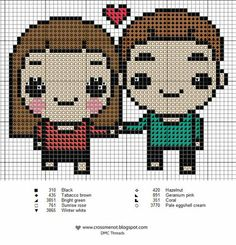Cute couple pattern