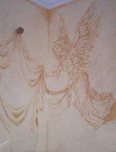 Trompe Loeil Angel Mural