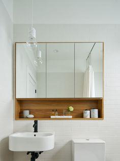 Rub-a-Dub — alison damonte, Bathroom Cabinets Designs, Mirror Cabinets, Bathroom Layout, Shower Room, Bathroom Mirror Storage, Bathroom Interior, Yellow Bathrooms, Bathroom Mirror Cabinet, Bathroom Decor