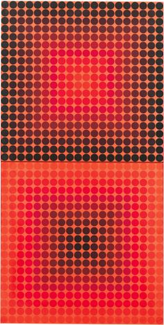By Victor Vasarely (1906-1997), 1965, Pokol, acrylic on canvas.