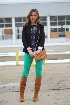 Lilly's Style looking gorgeous in emerald!  (wearing our Emerald Crystal Necklace)