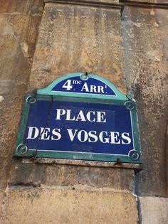 Place Des Vosges...