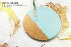 DIY Colorblocked Coasters via Almost Makes Perfect