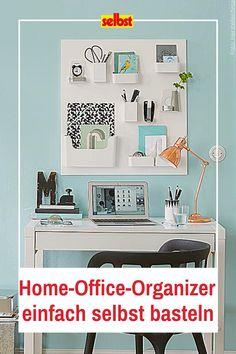 Du #arbeitest im #HomeOffice? Bei der Verbindung von privatem Raum und #Arbeitsplatz leidet schnell die #Organisation. Mit einem #selbstgebastelten #Organizer für den #Schreibtisch findest du wieder #Struktur. Die gesamte #Bastelanleitung findest du hier. #DIY #workspace #organization #aufräumen #Ordnung #Arbeitszimmer