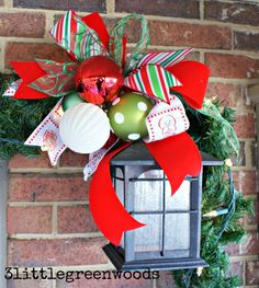Simple and Fabulous Ways to decorate your front porch for Christmas! Bright and Cheery Christmas Porch Decor by 3 Little Greenwoods Outdoor Christmas Garland, Outside Christmas Decorations, Christmas Porch, Diy Christmas Gifts, Christmas Holidays, Christmas Wreaths, Merry Christmas, Outdoor Decorations, Christmas Ideas