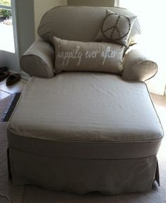 1 Cushion Chaise Lounge Slipcover Custom-Made to fit