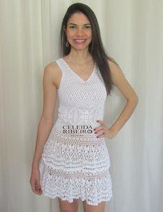 Celeida Ribeiro: Vestido de crochet!